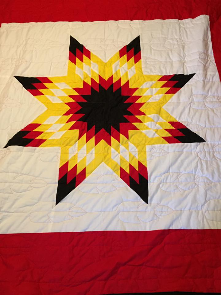 Star quilt by Yolanda Pendleton of the Lower Sioux Indian Community